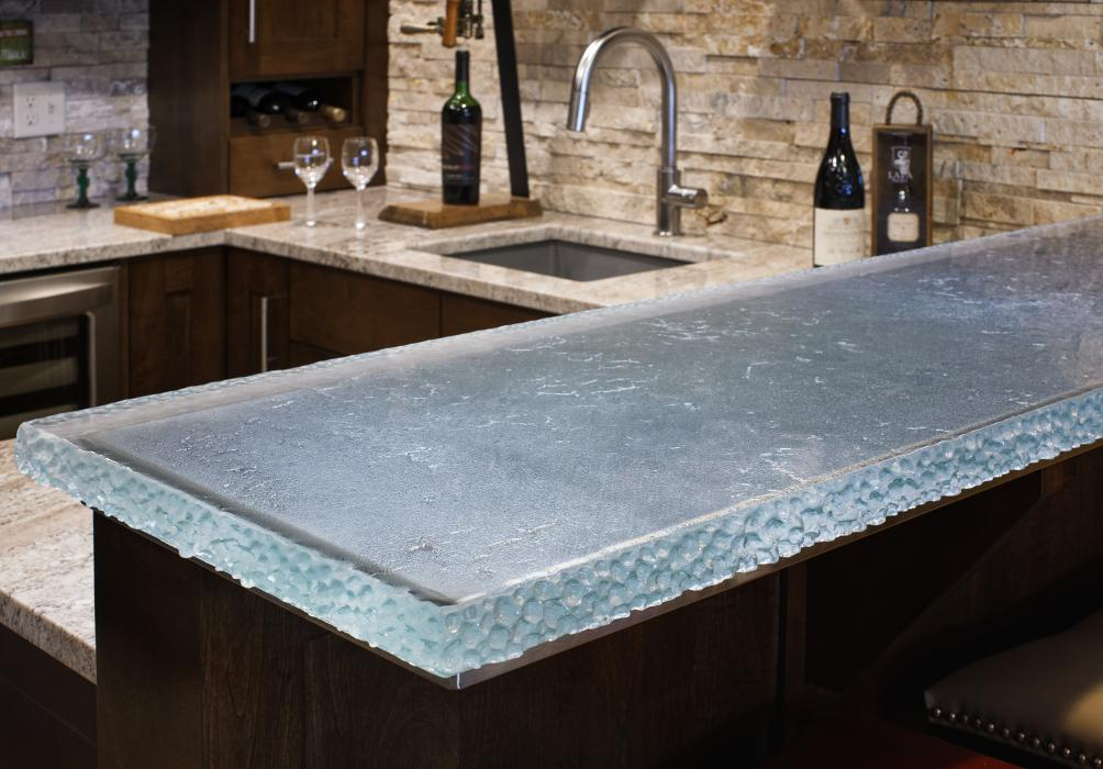 Wesson Builders Project Image - Glass Countertop